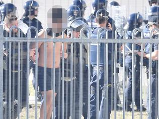 Inmates riot at the Malmsbury Youth Justice Centre. Picture: Jake Nowakowski