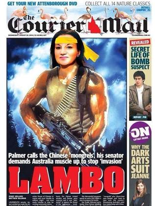 The Courier-Mail's classic cover.