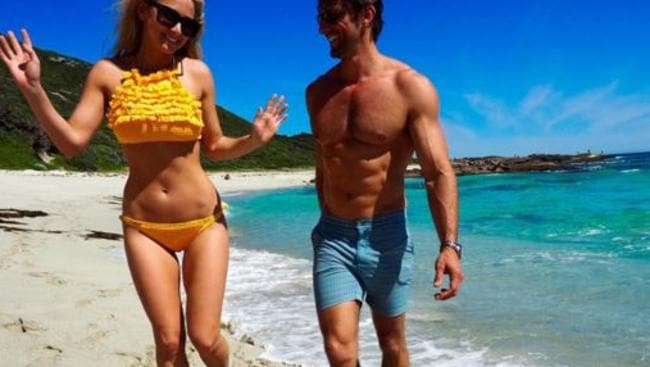 Tim Robards and girlfriend Anna Heinrich.