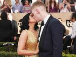 Ariel Winter and Levi Meaden attend the 23rd Annual Screen Actors Guild Awards at The Shrine Expo Hall on January 29, 2017 in Los Angeles, California. Picture: Getty