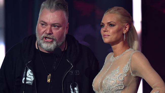 Kyle Sandilands and Sophie Monk. Picture: AAP