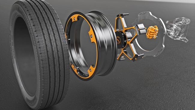 Tread lightly: Reduced weight of the wheel suits electric cars.