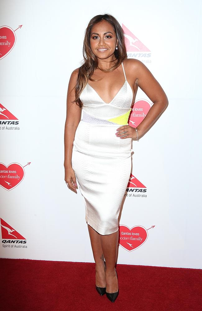 Jessica Mauboy arrives at the party..