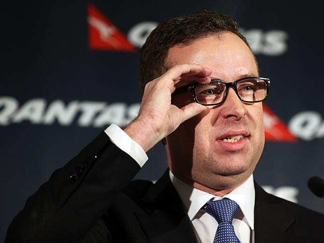 Alan Joyce, chief executive officer of Qantas, tells the media the news yesterday. Picture: Supplied