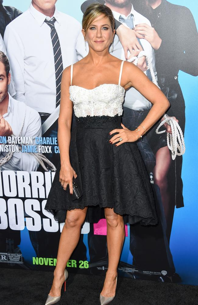 "Aniston at the Los Angeles world premiere of ""Horrible Bosses 2"", in Hollywood, California. Picture: Splash News"