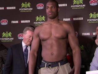 Daniel Dubois preparing for his third fight