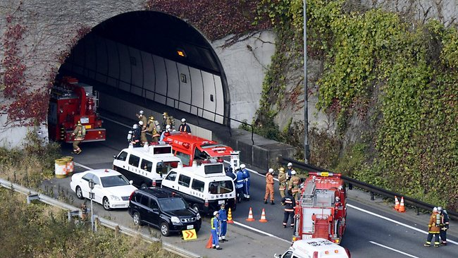 Japan Tunnel Collapse