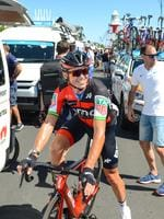 Australian rider Simon Gerrans from BMC at Port Adelaide. Picture: Brenton Edwards/AFP Photo