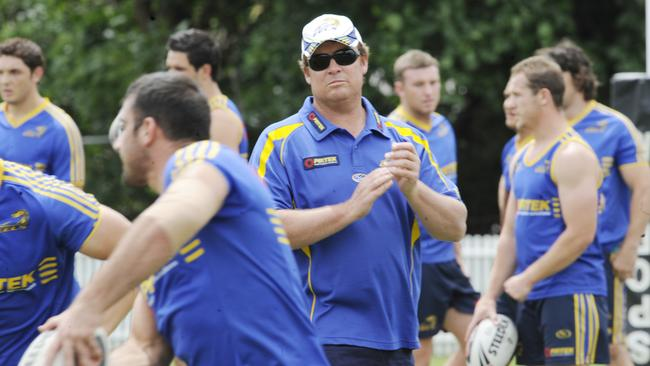 Daniel Anderson at Eels training.