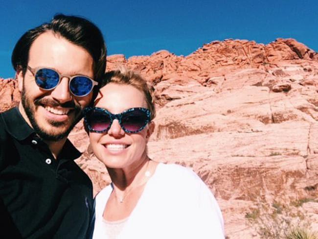 Happier days ... Spears pictured with ex-boyfriend Charlie Ebersol before their split last year Picture: Instagram
