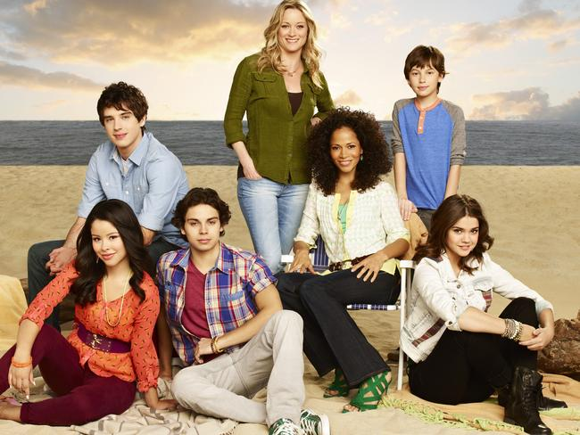 TV family ... (l to r) Cierra Ramirez as Mariana, David Lambert as Brandon, Jake T. Austin as Jesus, Teri Polo as Stef, Sherri Saum as Lena, Hayden Byerly as Jude and Maia Mitchell as Callie. Picture: ABC