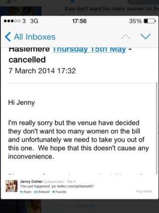 Jenny posted the email on Twitter, where it's since been shared more than 5,000 times.
