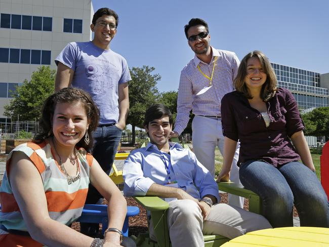 Google interns Rita DeRaedt, Alfredo Salinas, Alex Rodrigues, Steve Weddler, and Lizzy Burl.