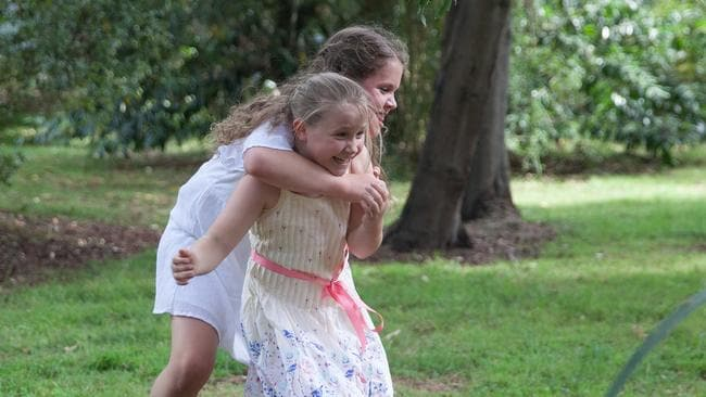 Isabelle and Hattie are just like any sisters. Picture: Rick Liston / news.com.au