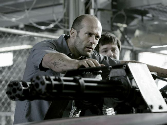 Statham in a scene from 2008's  <i>Death Race</i>.