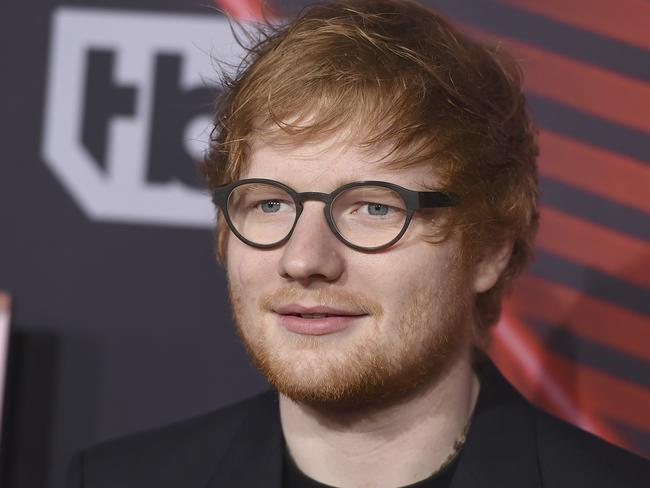 Ed Sheeran has been dethroned, for now. Picture: AP