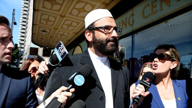 Haron Monis was charged for sending hate letters to families of soldiers killed in Afghanistan. Appearing for sentencing at the Downing Centre.