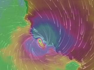Cyclone Debbie of the Queensland coast ,prediction hitting Townsville 3am on Tuesday