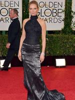 Golden Globes 2014 Red Carpet arrivals at the Beverly Hilton: Uma Thurman arrives in Atelier Versace. Picture: AP