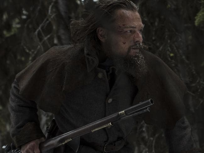 Leonardo DiCaprio as Hugh Glass in a scene from The Revenant.