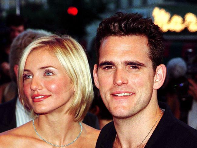 Co-stars ... Cameron Diaz with Matt Dillon arriving at premiere of film There's Something About Mary in 1998.