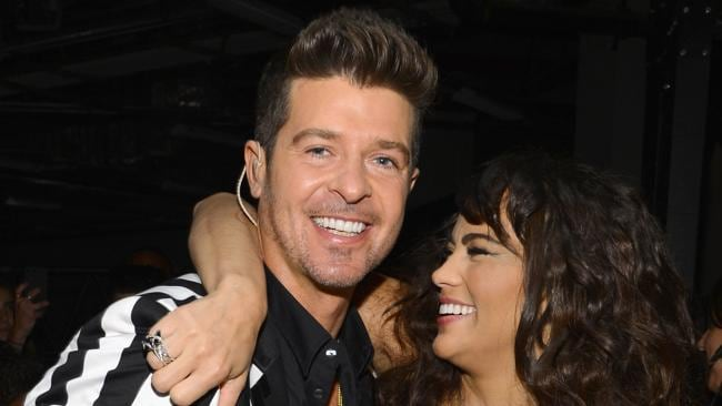 Robin Thicke and Paula Patton at the 2013 MTV Video Music Awards. Picture: Getty Images.