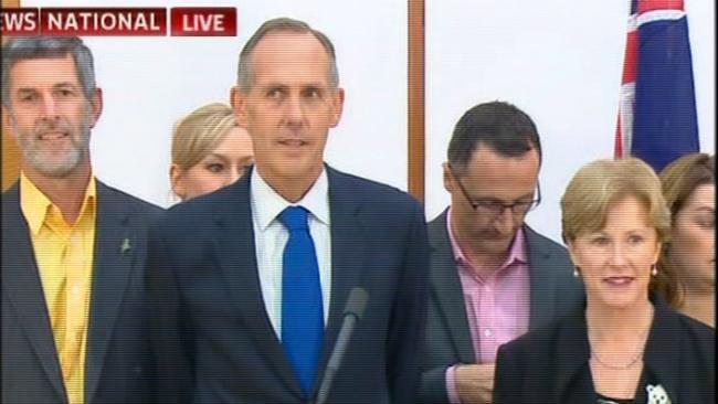 Bob Brown steps down as Greens Leader, outlining his plans for a quiet retirement. Picture: Courtesy of Sky News