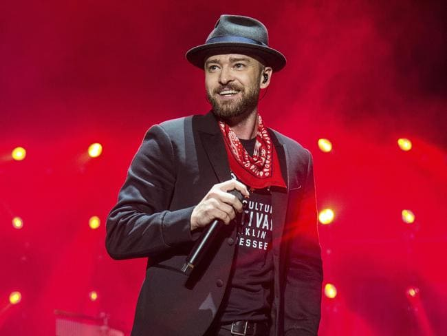 Justin Timberlake said he hasn't worked with Pharrell Williams due to record company considerations. Picture: Amy Harris/Invision/AP