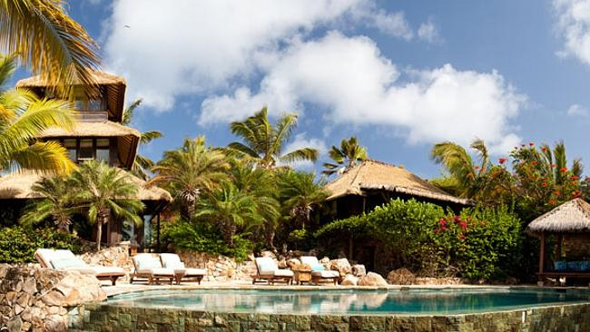 The whole island operates as a resort and comes with staff.
