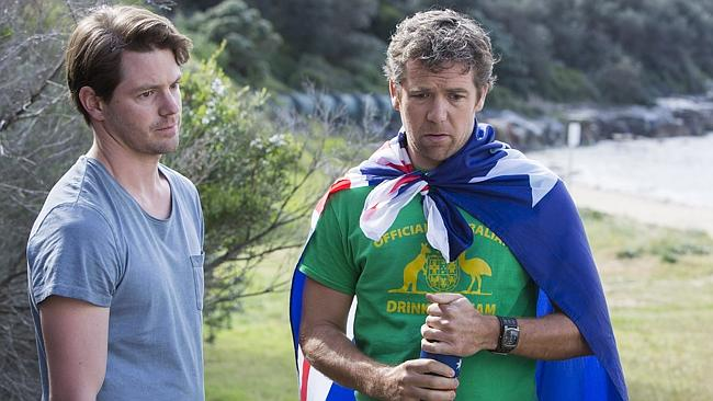 It's Australia Day ... The hilarious Dan Moody (Ian Meadows) with Sean Moody (Patrick Brammall). Picture: Supplied