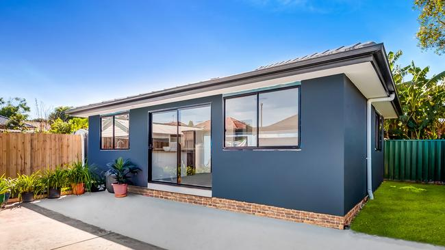 This extravagant granny flat on Ruby St in Yagoona was recently built to include a walk-in wardrobe.