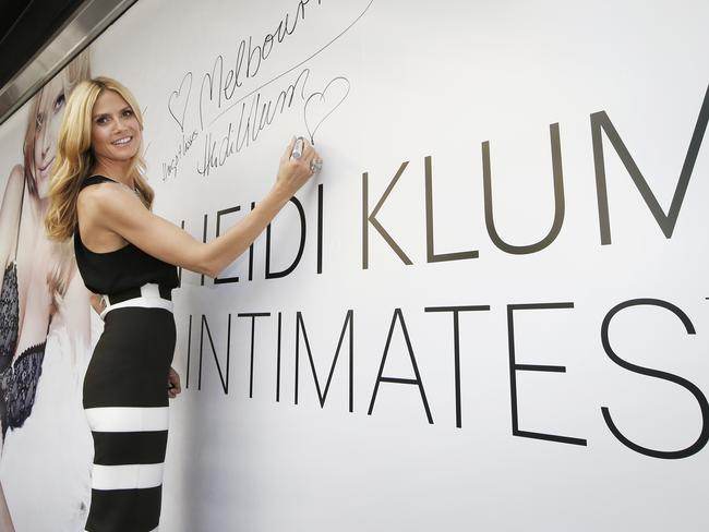 She's not just the face of her lingerie line, Heidi Klum is a hands on designer. Picture: David Caird