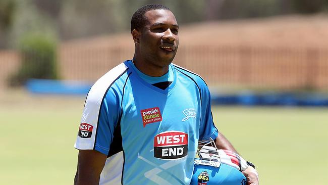 Kieron Pollard - Adelaide Strikers. Picture: Simon Cross