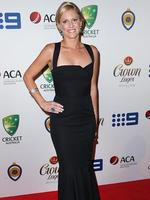 Karina Haddin on the red carpet arriving at the 2014 Allan Border Medal held at Doltone House at Hyde Park.