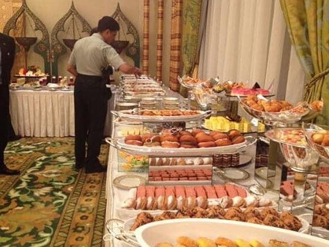 Arabian feast ... now that's what you call a buffet. Picture: Twitter/Carrie Budoff Brown