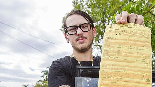 Julian Harris copped a $44 fine for leaving his window open more than 5cm. Picture: the Courier Mail.