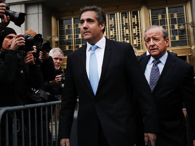 President Donald Trump's long-time personal attorney Michael Cohen exits court. Picture: Spencer Platt/Getty Images/AFP