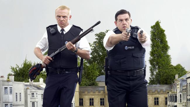 Simon Pegg and Nick Frost in Hot Fuzz.