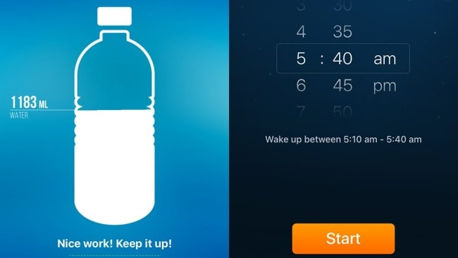 Photo: Waterlogged and SleepCycle were two apps that got the thumbs up.