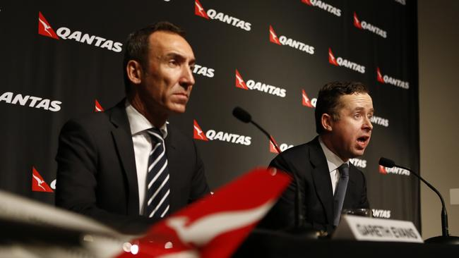 Remaining positive... CEO Alan Joyce said Qantas has come through the worst. Picture: Kym Smith