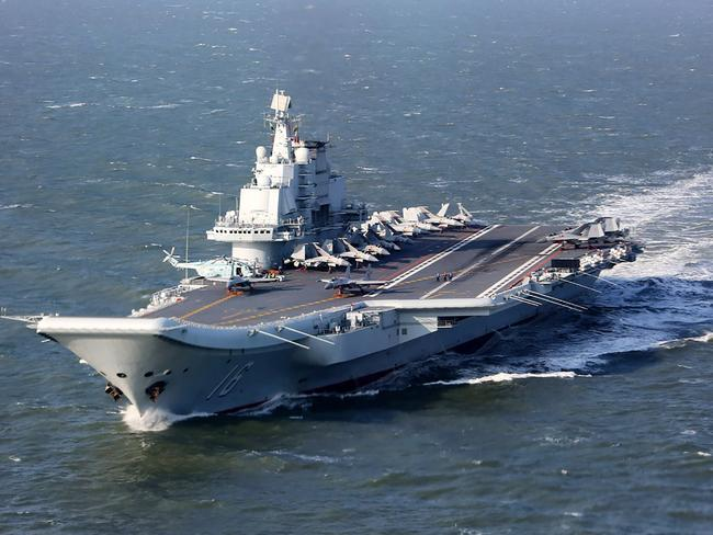 The Liaoning, China's only aircraft carrier, has been taken to the Pacific for the first time this week. Picture: AFP PHOTO / STR