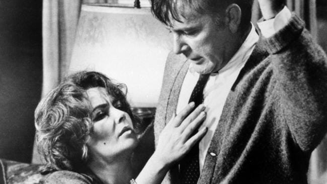 Elizabeth Taylor and Richard Burton in a scene from the 1966 film, Whos's Afraid Of Virginia Woolf.