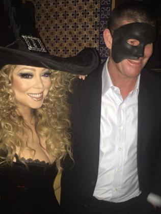 Out together ... Mariah Carey and James Packer in costume at a Beverley Hills Halloween party. Picture: Supplied