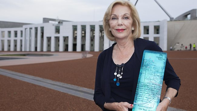 Australian of the Year Ita Buttrose poses at the 2013 Australian of the Year Awards. Photo by Pamela Martin/Getty Images