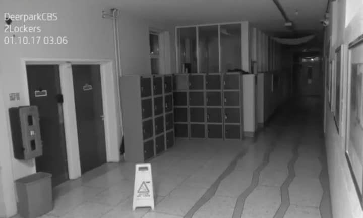 School shares chilling footage of 'ghost'