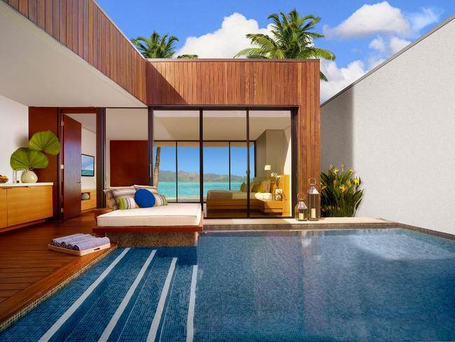 Occasion holidaying; a killer beach villa on One & Only Hayman Island priced at $1990. Per night.