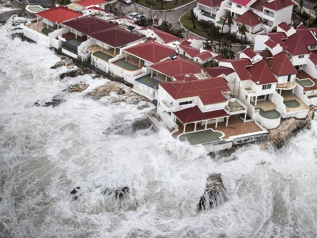 An aerial photo taken and released by the Dutch department of Defence shows the damage Hurricane Irma caused on the Dutch side of St Martin, known as Sint Maarten. Picture: AFP