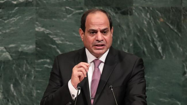 Human Rights Watch says that since President Abdel Fattah al-Sisi came into power in 2014, hundreds of people have been arrested on charges relating to homosexuality. Picture: Drew Angerer/Getty Images/AFP
