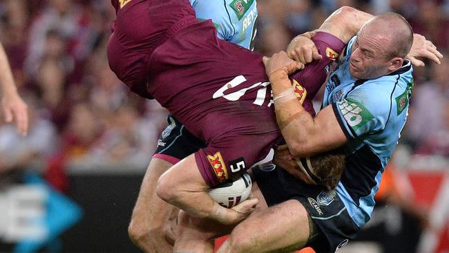 Beau Scott's tough defence was a feature of Origin I.