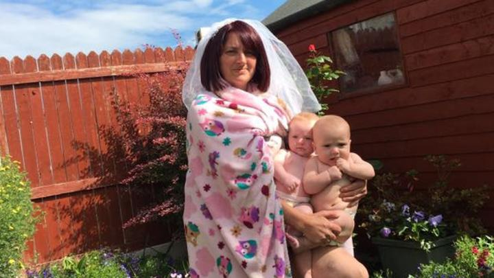 Sharon Kellaway has become an internet star thanks to her Beyonce parody. Picture: Facebook/Sharon Kellaway